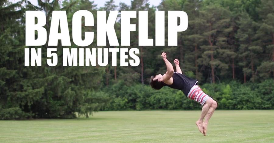 Ako sa naučiť salto dozadu za 5 minút